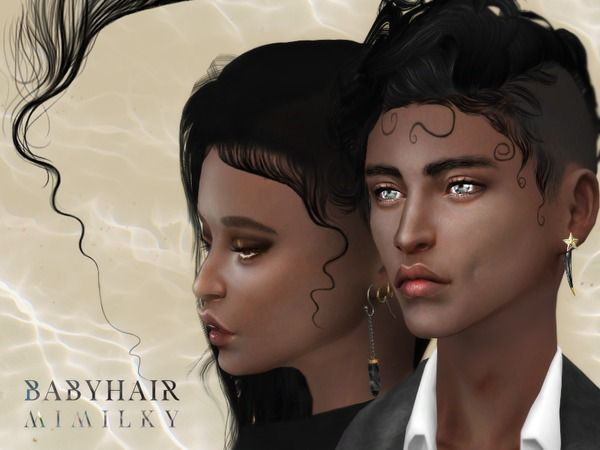 Babyhair N1 by Mimilky at TSR via Sims 4 Updates