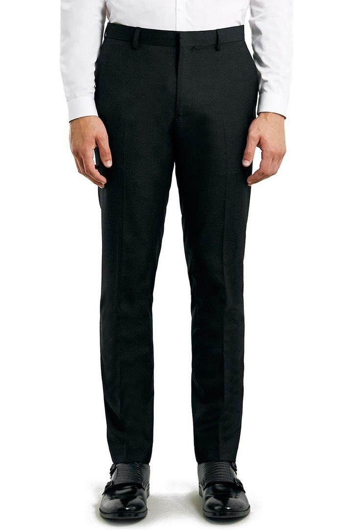 Main Image - Topman Skinny Fit Black Suit Trousers