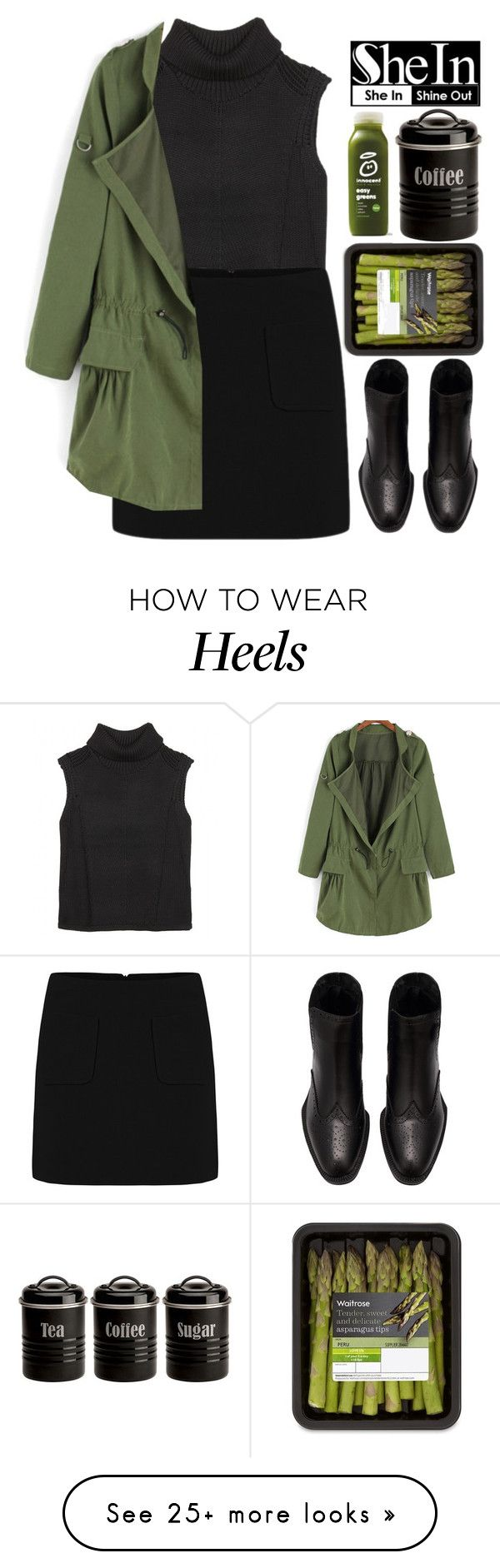 """""""#SheIn"""" by credentovideos on Polyvore featuring moda, Helmut Lang y Typhoon"""