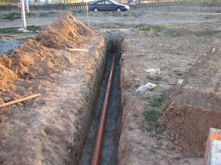 Траншеи для наружной канализации
