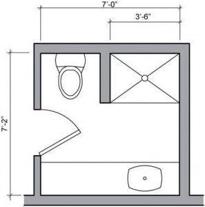 Simple Bathroom Floor Plans Ideas for Small Space
