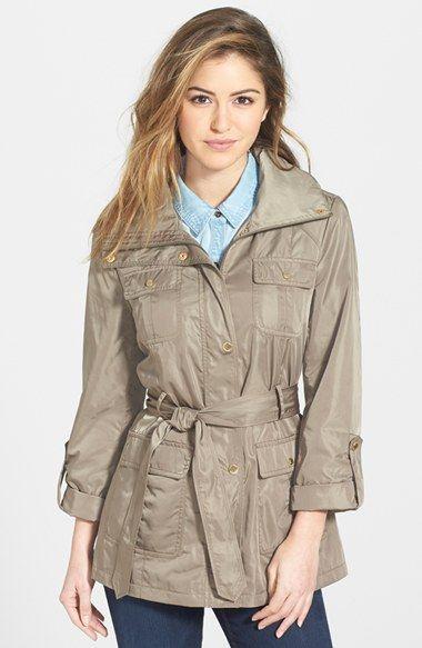 Ellen Tracy Techno Short Trench Coat (Regular & Petite) available at #Nordstrom