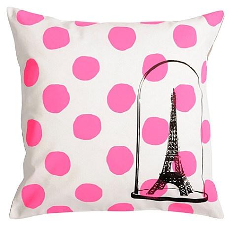 LA CERISE SUR LE GATEAU Eiffel Tower cushion cover