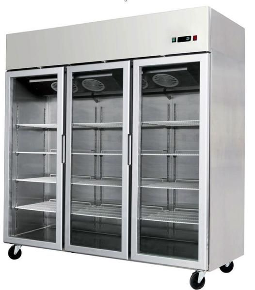 3 Door Commercial Reach In Glass Front Merchandiser Refrigerator Mcf 8606 Industrial Kitchen Design Glass Front Refrigerator Modern Refrigerators
