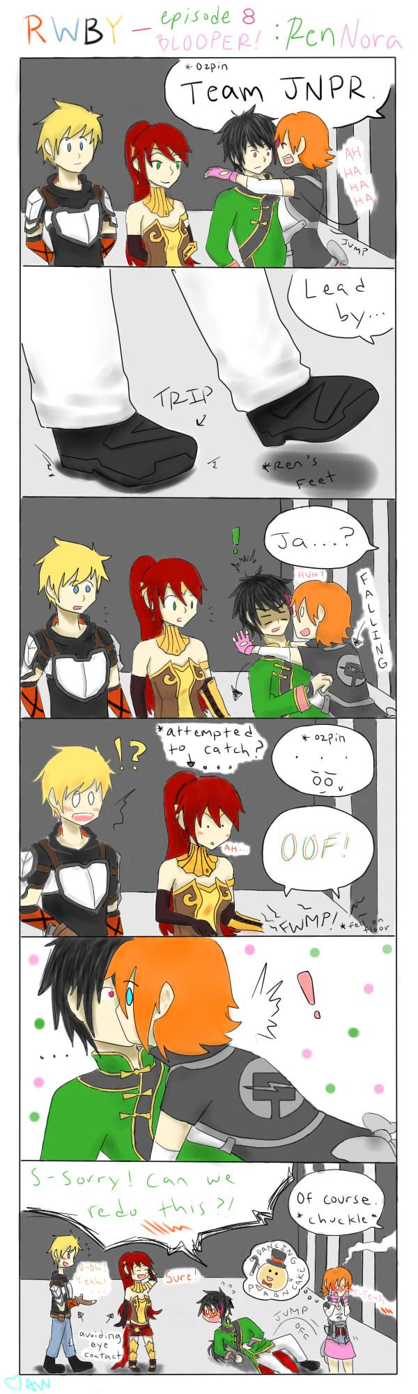 RWBY-episode 8: Nora and Ren Blooper *FANMADE!* by pockynuko12000 on deviantART
