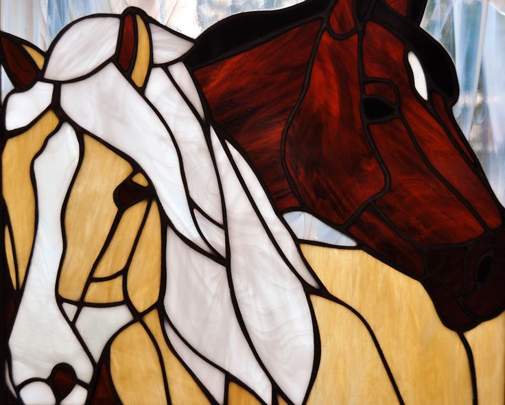 Paarden ~ Stained Glass ~ RannDago ~ Horses