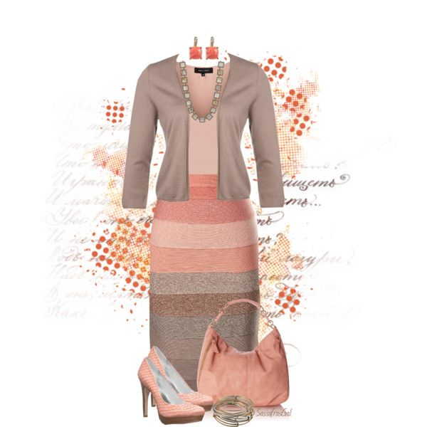 """Peachy Taupe"" by sassafrasgal on Polyvore"