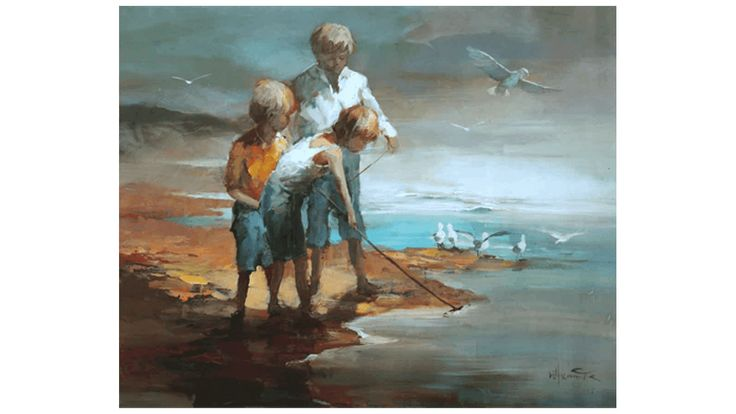 Schilderij Strand Canvas 1700027 - Schilderijen
