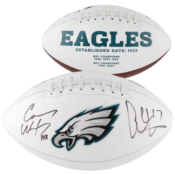 Carson Wentz, Alshon Jeffery Philadelphia Eagles Fanatics Authentic Autographed White Panel Football - $299.99