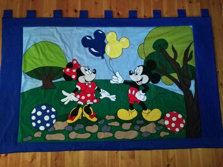 Mickey egeres falvédő