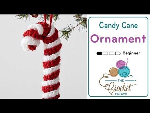 It's simple and for beginners of crochet, it's the Crochet Candy Cane Ornament. This simple ornament is just one simple chain of 40 with 3 double crochets wo...