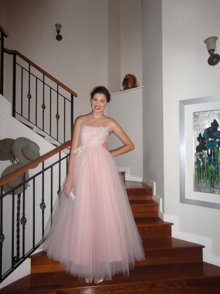 Pale pink tulle princess style gown  http://www.arcarocouture.com.au/