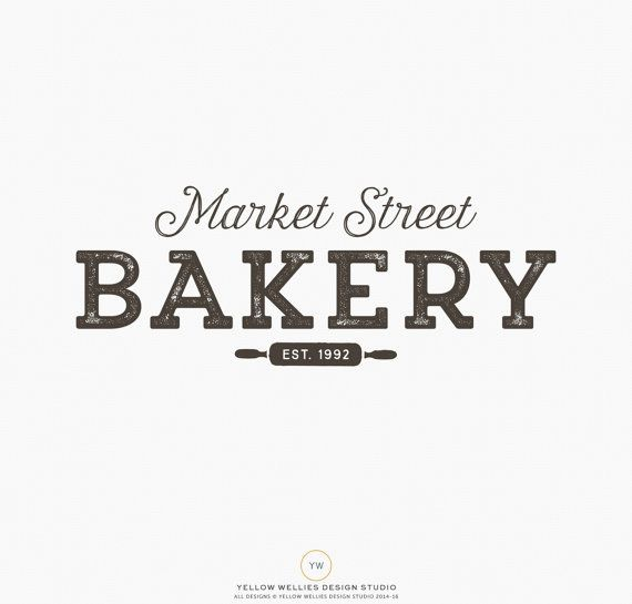Premade Logo Design  Bakery Logo  Rolling by YellowWelliesDesigns