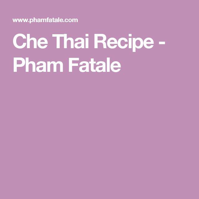 Best 25+ Che thai ideas on Pinterest Vietnamese dessert che thai