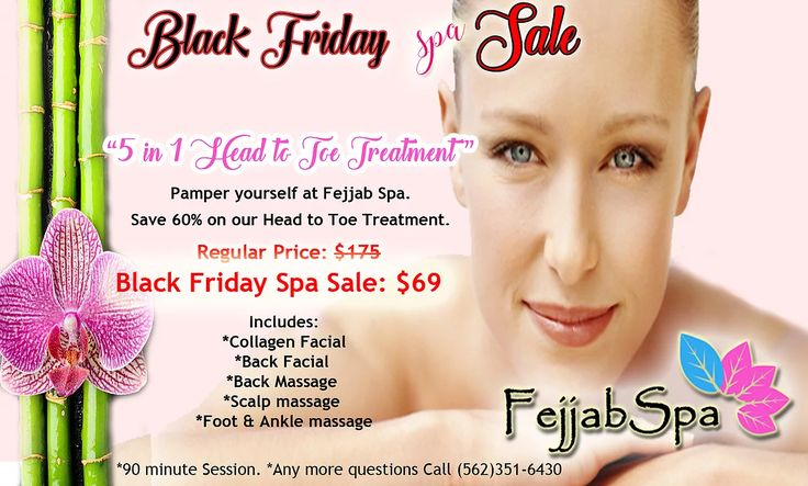 Fejjab Spa - Skin Care & Massage | BLACK FRIDAY SPA SALE