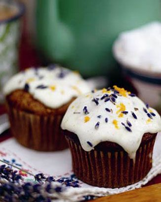 Jamie Oliver's Frosted Butternut Squash Muffins.  Seem perfect for a twist on Thanksgiving or Halloween desserts, too.