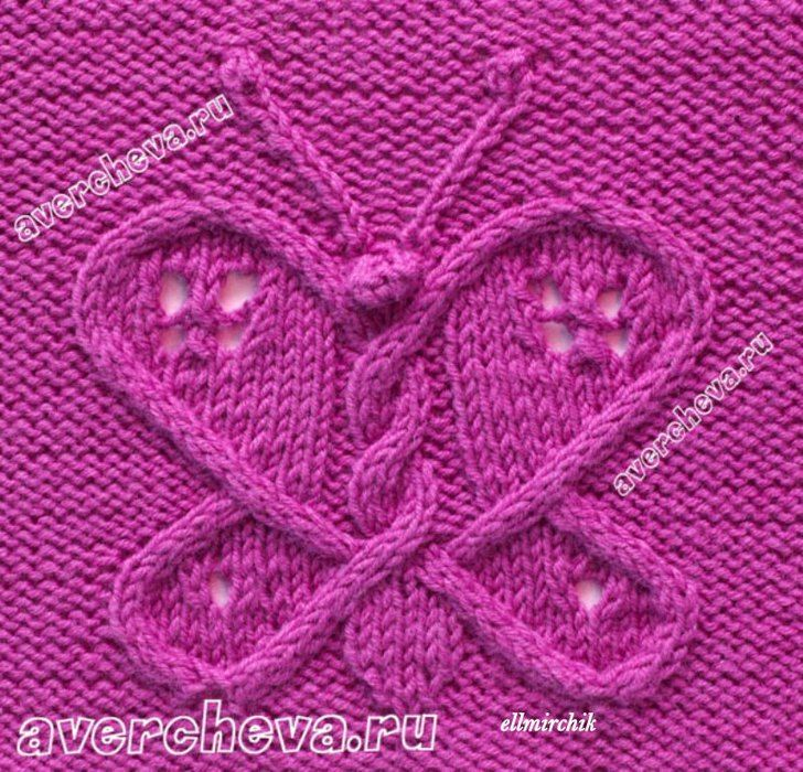 Knitting Butterfly Stitch Pattern : 17 Best images about Pontos tricO on Pinterest