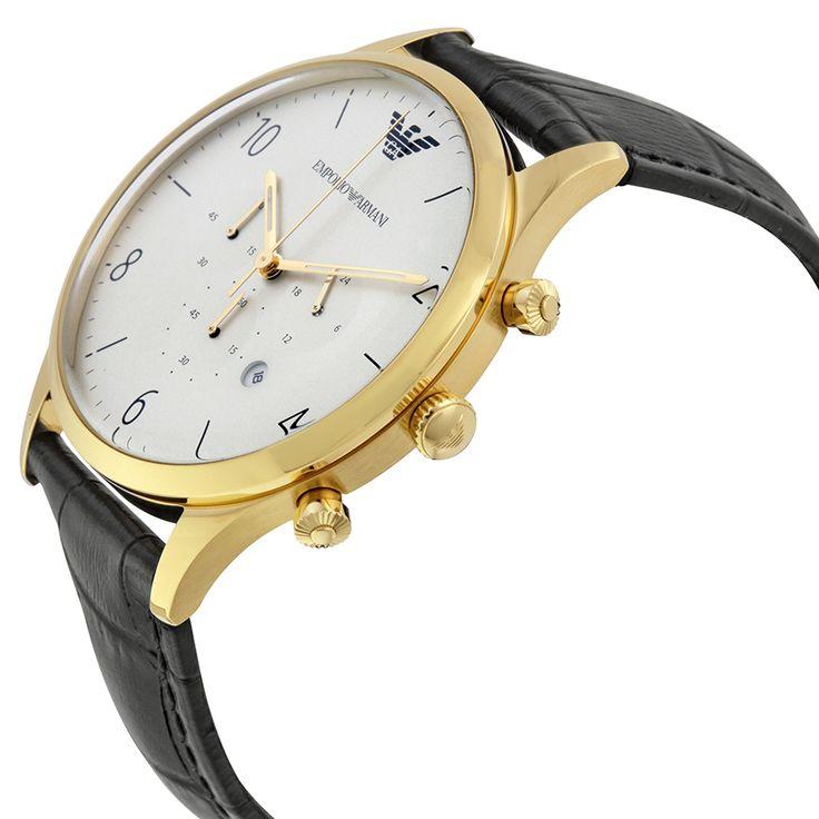 Emporio Armani Classic Chronograph White Dial Black Leather Men's Watch AR1892 - Emporio Armani - Shop Watches by Brand - Jomashop