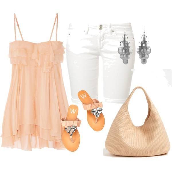 LOLO Moda: fashion trends 2014 Exchange the white shorts for shorter cut off white shorts