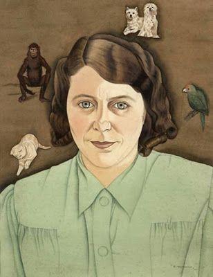 """Joyce Milligan"" 1941 by Rita Angus (1908 - 1970)"