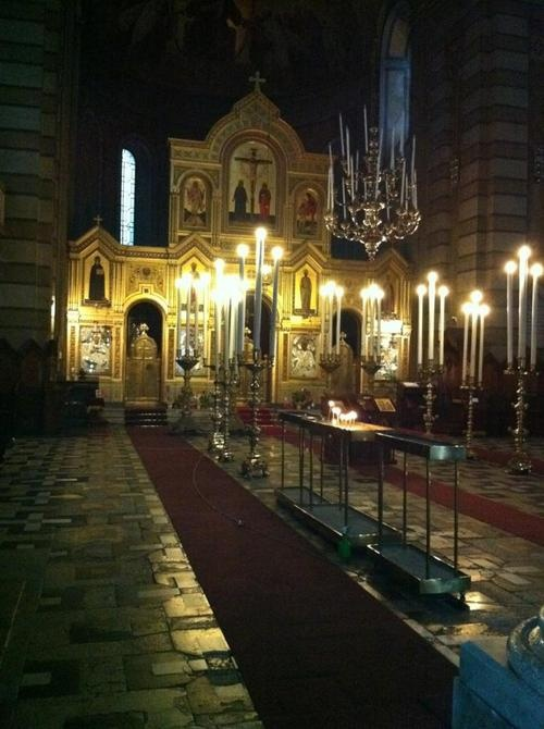 Serbian church in Trieste, Italy Interior