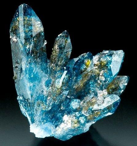 blue crystal formation