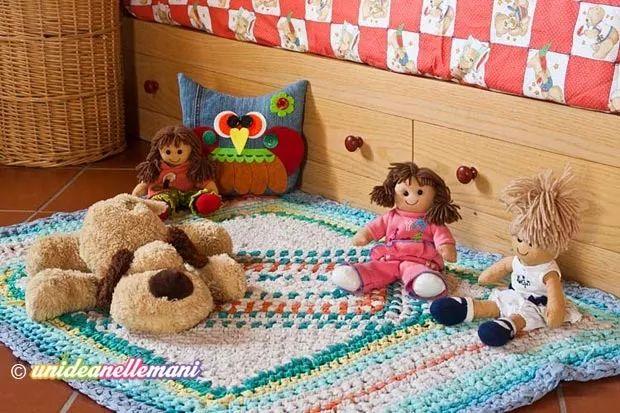 Oltre 25 fantastiche idee su tappeti fai da te su - Tappeto cameretta bambina ...