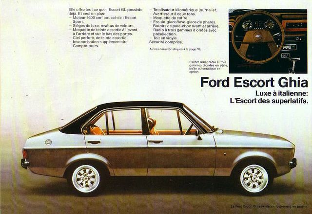 1980 Ford Escort Mk2 Ghia Brochure - Europe by Five Starr Photos ( Aussiefordadverts), via Flickr