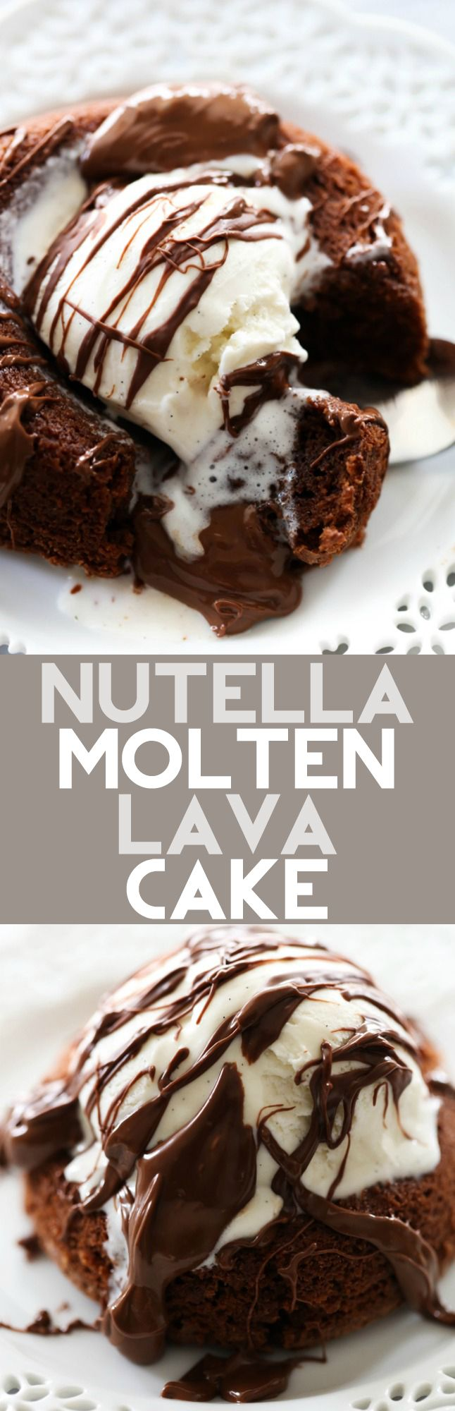 This Nutella Molten Lava Cake is infused with delicious Nutella. It starts melting out the moment you cut into it and enriches every bite. This is one heavenly dessert you won't want to mis