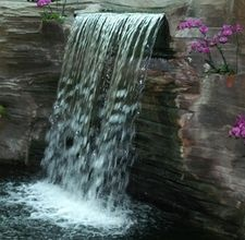 diy artificial rock waterfall