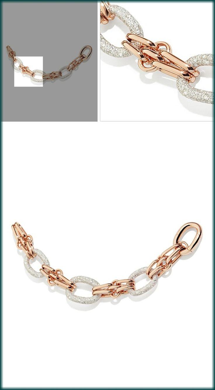 Pomellato Tango Bracelet with Diamonds in 18K Rose Gold and Silver PRICE: $39,600.00