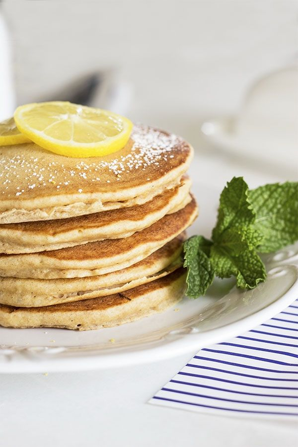 A lot of people think watching your waistline means no more pancakes for breakfast but those people are wrong! I eat pancakes for breakfast a lot and you can too if you just know which healthy ingredients to use. This recipe is one ofmy favorites because I love the light lemony flavor. I wasn't sure it would taste goodwith pancakes but I play around with flavors a lot and sometimes I get a real winner! The original recipe and photo is from naturalsweetrecipes.com I had to share this one...