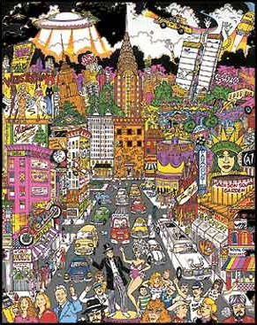 James Rizzi : Overlooking the Skyline 3-D