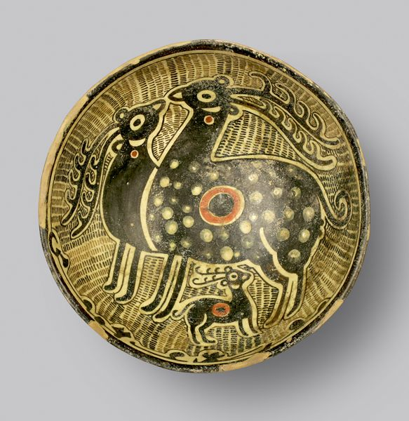 "Slip Painted Bowl - ADC.89 Origin: Central Asia Circa: 10 th Century AD to 11 th Century AD Dimensions: 3.62"" (9.2cm) high x 9.06"" (23.0c..."