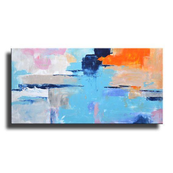 PITTURA ASTRATTA PITTURA BIANCA ROSA GRIGIO ARANCIONE BLU BIANCO GRANDE MODERNA PARETE ARTE ORIGINALE CONTEMPORANEA CANVAS ART ACRILICO PITTURA HOME DECOR   Per visualizzare i dettagli del dipinto, cliccate ZOOM per ingrandire le immagini.  Si tratta di un originale dipinto acrilico su tela non stirata.  Questa nave diretto dal mio studio.  Per proteggere la pittura bene durante il trasporto internazionale, tutti i dipinti sono laminati (senza cornice/non allungato) e spedito in un tubo ...