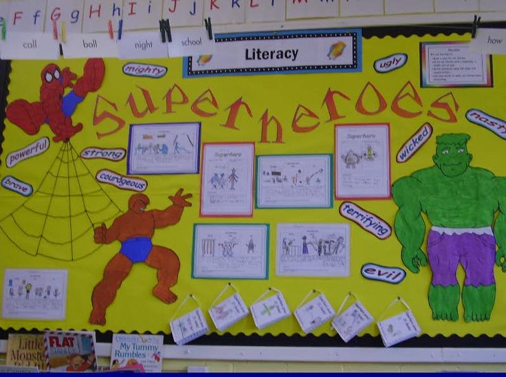 Superheros classroom display photo - Photo gallery - SparkleBox