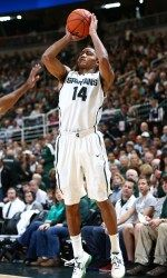 Michigan State looks to bounce back from defeat as it travels to Purdue for the only regular-season meeting between the Spartans and Boilermakers. The Spartans are 4-0 this season following a defeat. MSU is 10-2 away from East Lansing, including 6-1 on an opponent's home court, but Purdue is 12-2 at home.