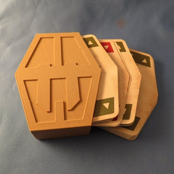 image relating to Printable Sabacc Deck referred to as Star Wars Sabacc Card Box 3D Print for Han Solo Lando