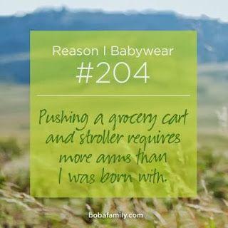 Despre modul in care marsupiul Boba Carrier te ajuta cand mergi la cumparaturi cu bebelusul.