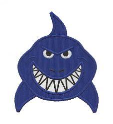 Shark Head Applique - 4 Sizes!   Beach/Ocean   Machine Embroidery Designs   SWAKembroidery.com Applique for Kids