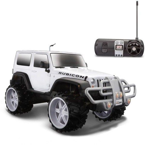 Carro de Controle Remoto Jeep Wrangler Rubicon Branco Maisto