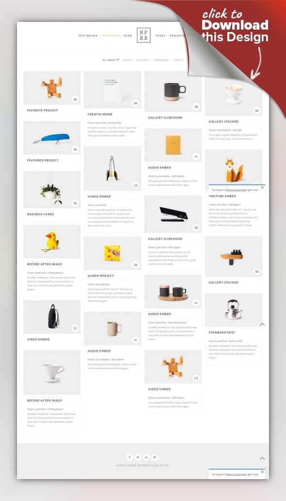 HyperX - Responsive Wordpress Portfolio Theme architecture, creative agency, custom font, freelancer, illustration, isotope grid, left sidebar, minimal clean, one page, password protected, photography, responsive portfolio, video, woocommerce shop, wordpress template Please read all about latest updates here: Update Change-Log. Main features: Best Wordpress Portfolio Th...