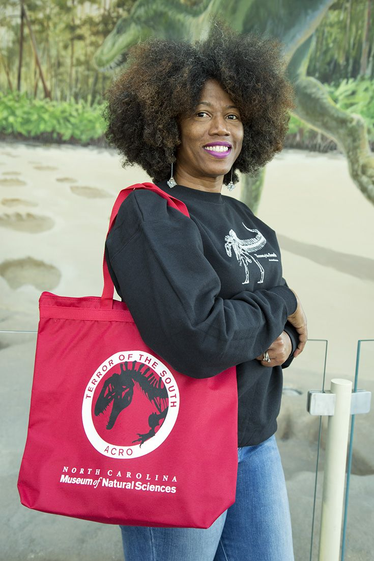 """Red """"Terror of the South / Acro"""" tote bag. $20."""