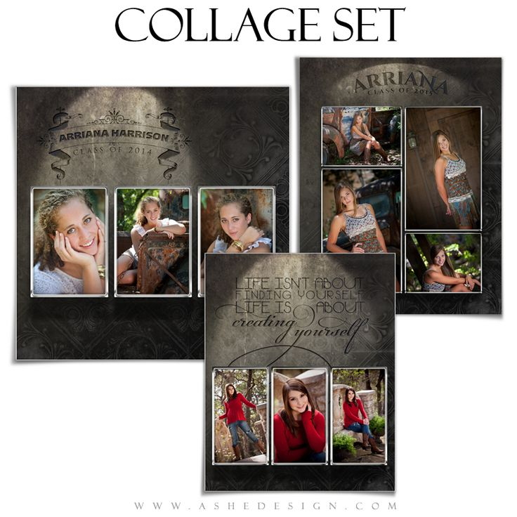 senior photo collage templates - 54 best collage photoshop templates images on pinterest