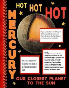 Make a Science Fair Project about Mercury - Planet: Outer Space Science Poster Ideas for Kids