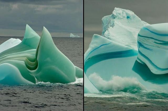 Mesmerizing Striped Icebergs: Ageless beauties of the Frozen World