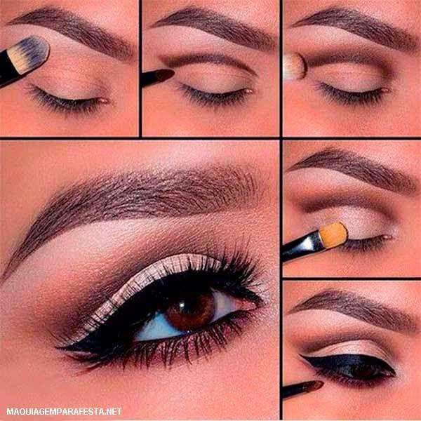Maquiagem para olhos castanhos - Madrinhas de casamento