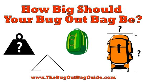 How Big Should Your Bug Out Bag Be?  How to manage size and weight for comfort and mobility.
