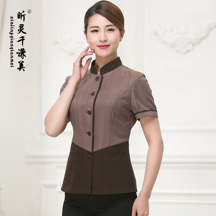 Cleaning Service Clothes Hotel Room Attendant Short Sleeved Clothing Summer Clean Uniform Work Clothes For Woman Cleaners J078