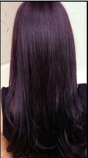 Deep plum hair                                                                                                                                                      More